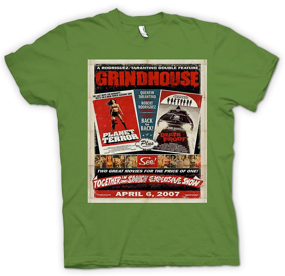 Mens T-shirt-Grindhouse-Planet Terror / Death Proof