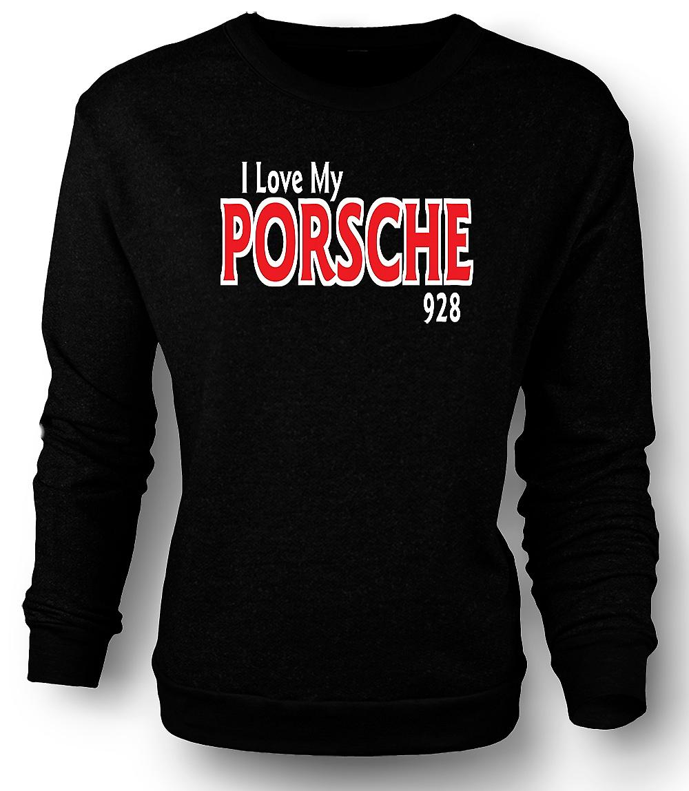 Mens Sweatshirt I Love My Porsche 928 - Car Enthusiast