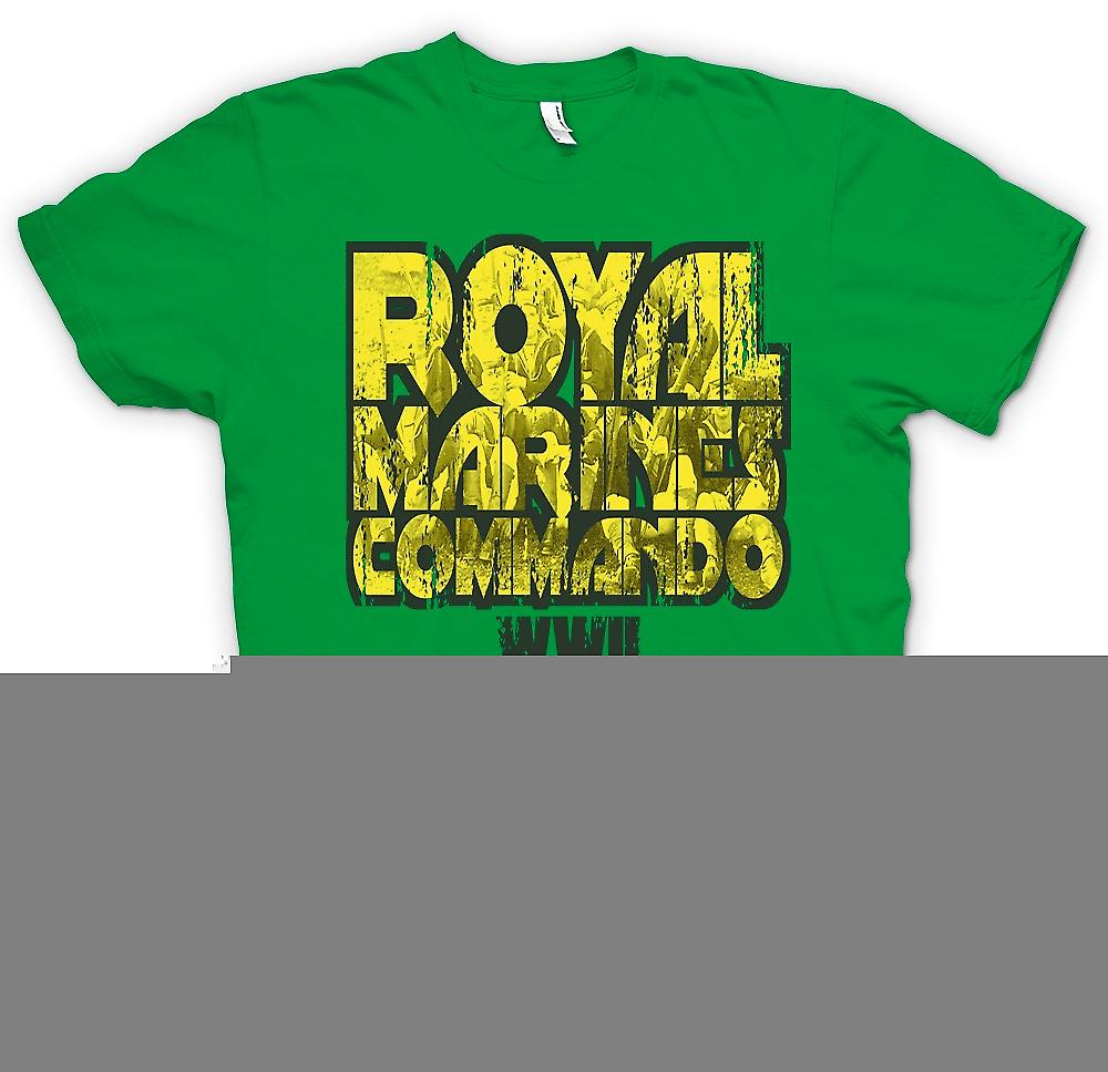 Herr T-shirt-Royal Marines Commando WW2