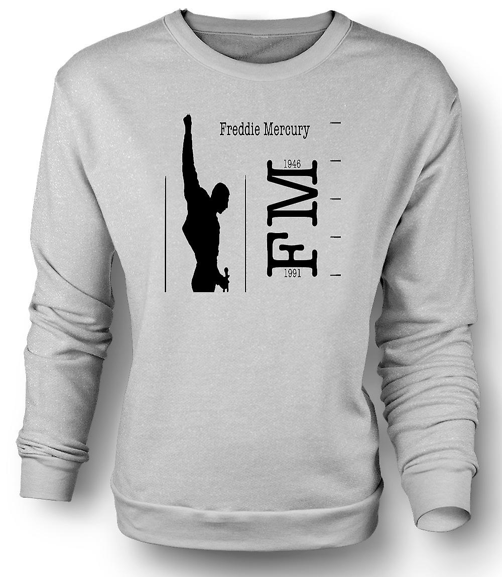 Mens Sweatshirt Freddie Mercury Queen - FM 46 - 91