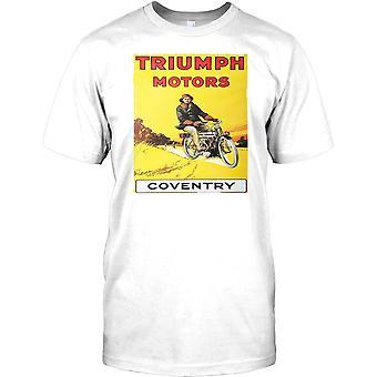Triumph Motors Retro Poster- Classic Bike Mens T Shirt