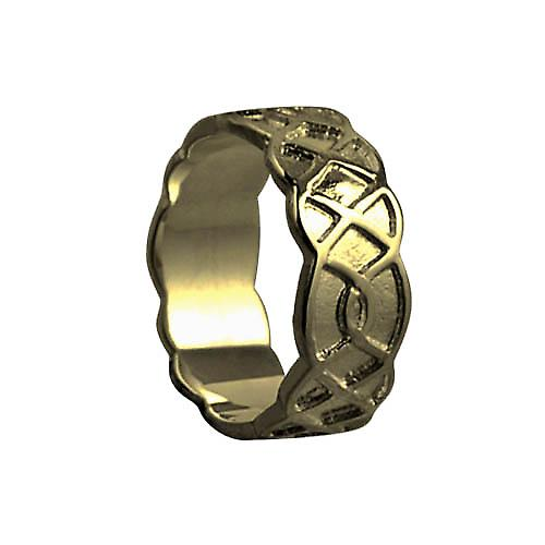 9ct Gold 8mm Celtic Wedding Ring