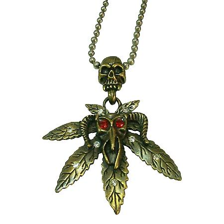 HipHop monster Red Rhinestone Eye Halloween Pendant Necklace