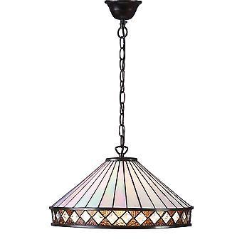 Fargo grande estilo Tiffany una luz techo colgante - interiores 64147 1900
