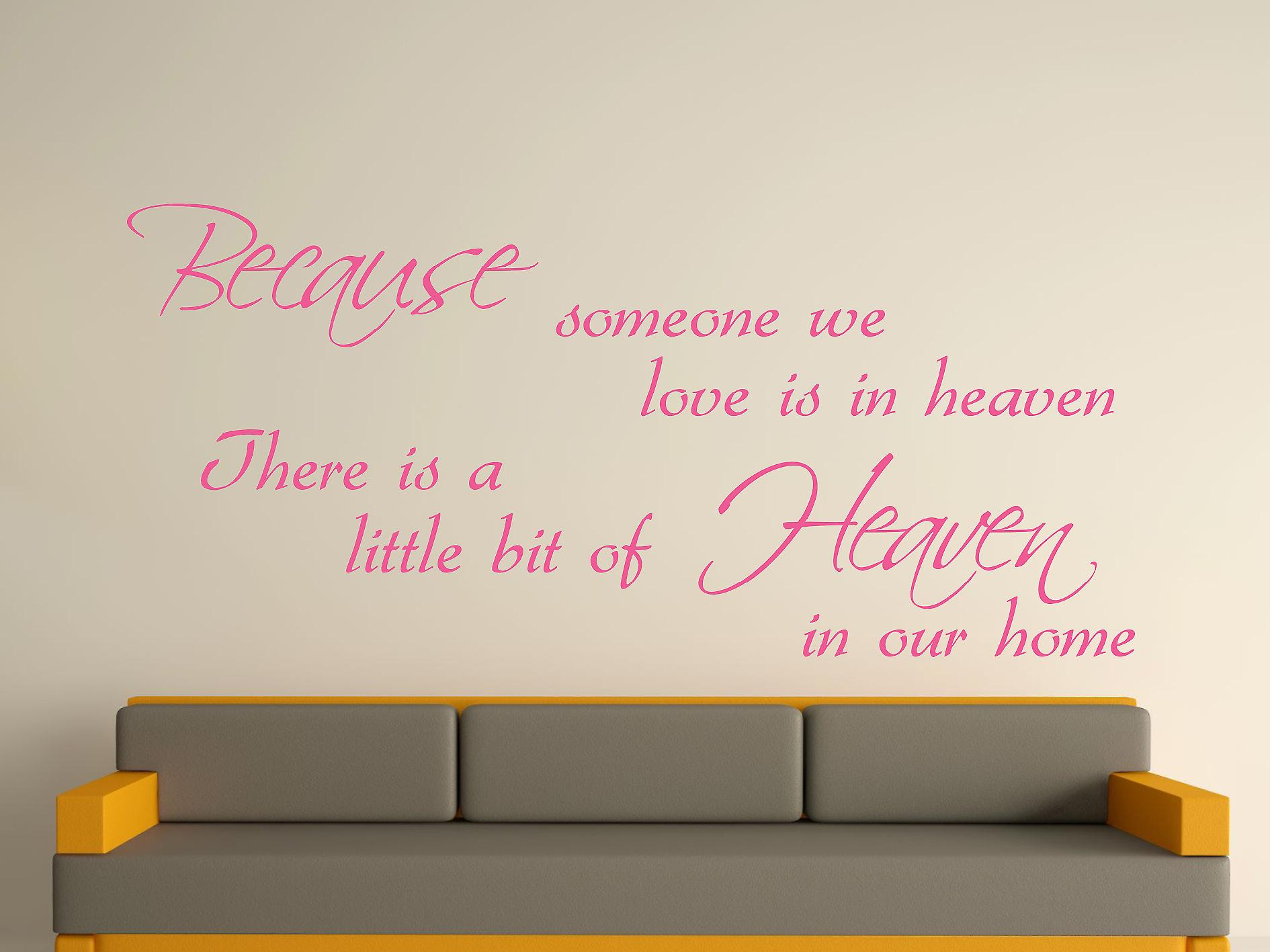 Because Someone Wall Art Sticker - Pink