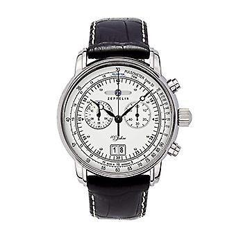 Zeppelin analog quartz watch with leather band _ 76901