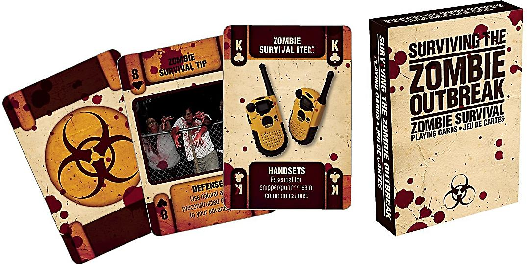 Surviving The Zombie Outbreak set of playing cards    (nm)