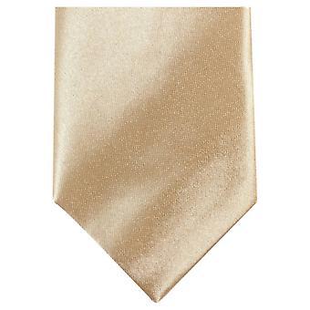 Knightsbridge cravates Slim Polyester Tie - or clair