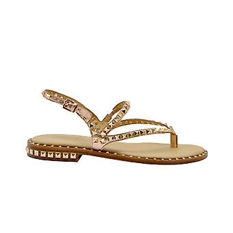 Ash Gold Leather Sandals