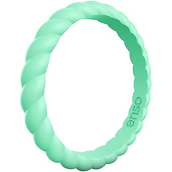 Enso Rings Braided Stackables Series Silicone Ring - Mint Green