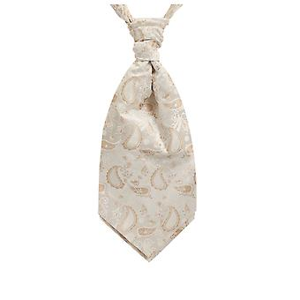 Dobell jungen Creme Seide Krawatte Paisley Pre gebunden