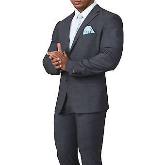 Avail London Mens Grey Sharkskin Suit Jacket Slim Fit Notch Lapel