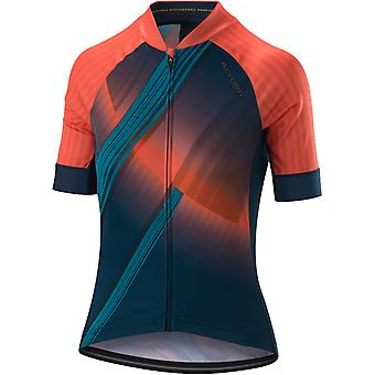 Altura Blue-Coral 2019 Icon Orbit Womens Short Sleeved Cycling Jersey