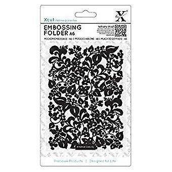 Xcut A6 Embossing Folder Sweeping Florals (XCU 515189)