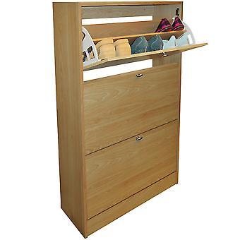 Clyde - compacto 18 par sapato armazenamento organizador armário - faia