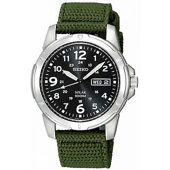 Seiko Mens Solar Powered Canvas Strap SNE095P2 Watch