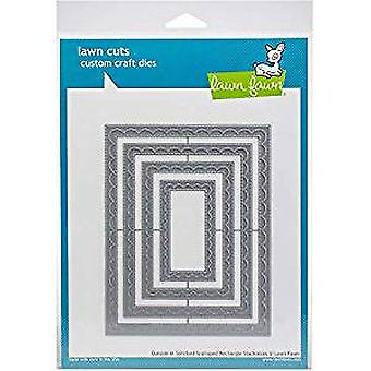 Lawn Fawn Outside In Stiched Scalloped Rectangle Stackables Dies (LF1505)
