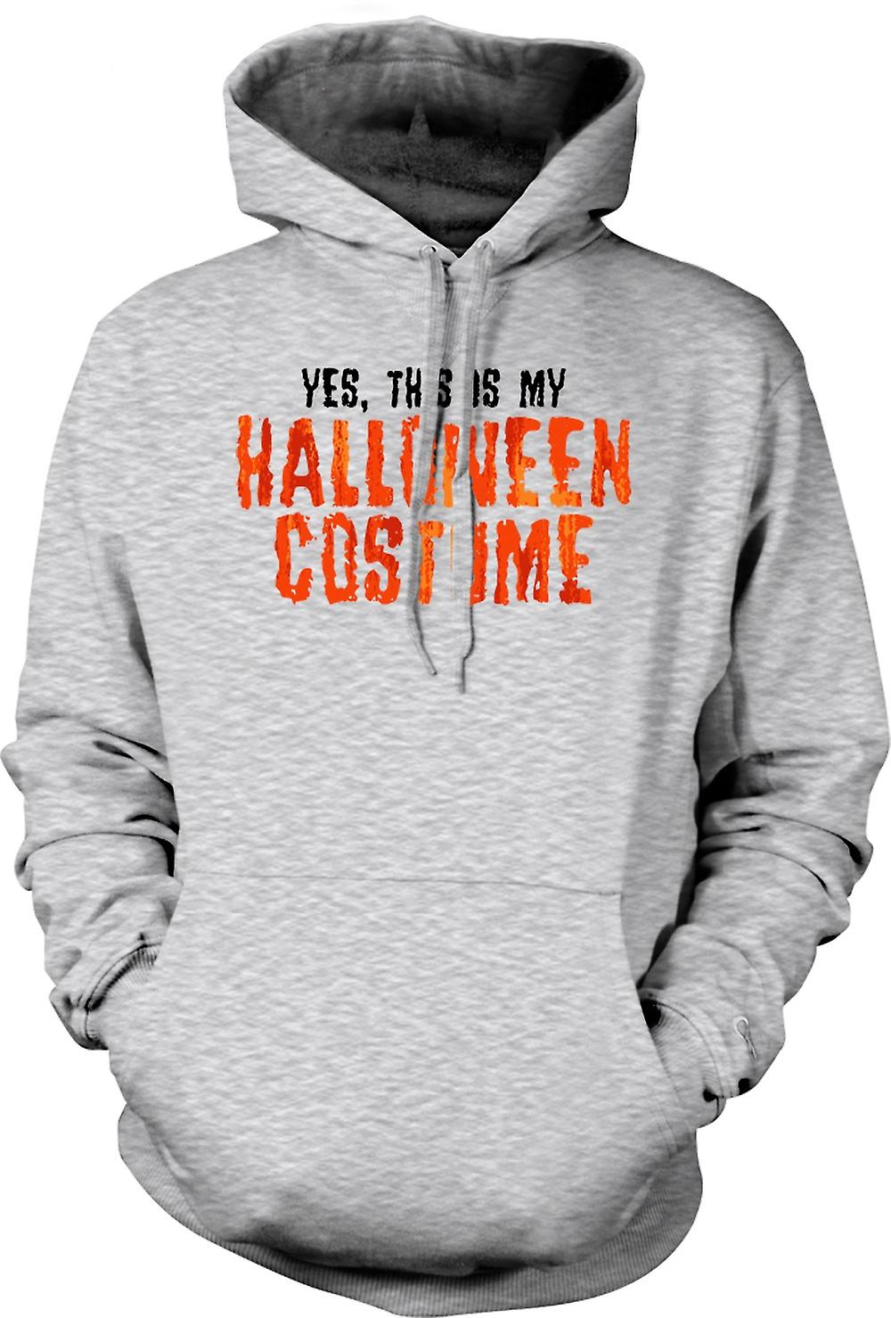 Mens Hoodie - Yes This Is My Halloween Costume