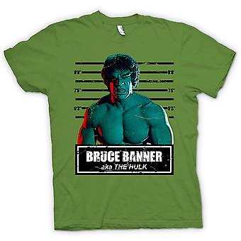 Heren T-shirt-de Hulk - David Banner - Mug Shot