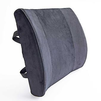 Black velvet Lumbar support cushion (2 straps)