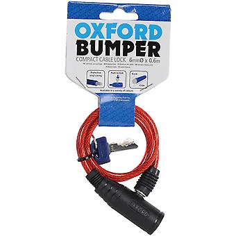 Oxford Red Bumper Cable - 6mm X 600mm Motorcycle Lock