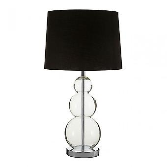 Premier Home Luke zwarte stof schaduw tafel lamp, metaal, zwart