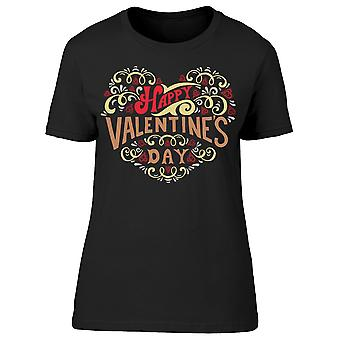 Happy Valentines Day Phrase Tee Women's -Image by Shutterstock