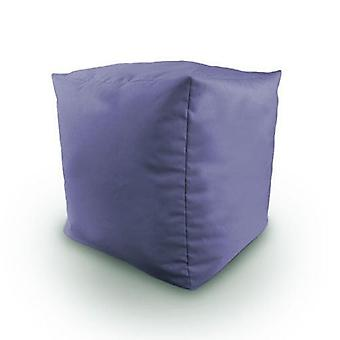 Lilac Cotton Twill Bean Cube Footstool Pouffe
