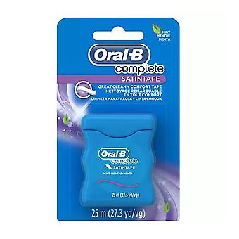 Oral-b complete satintape floss, mint, 27.3 yards