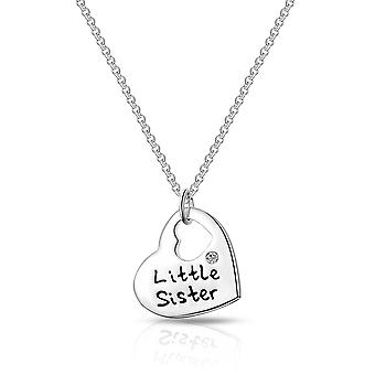 Little sister heart necklace created with swarovski® crystals