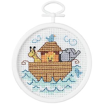 Noah's Ark Mini Counted Cross Stitch Kit 2 1 2