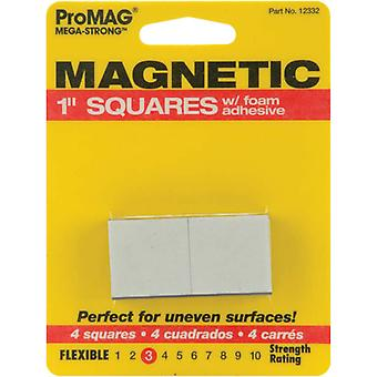 Mega Strong Magnetic Squares with Foam Adhesive 1