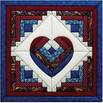 Log Cabin Heart Quilt Magic Kit 15 1 2