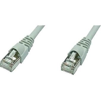 RJ49 Networks Cable CAT 5e F/UTP 10 m Grey Flame-retardant, incl. detent Telegärtner