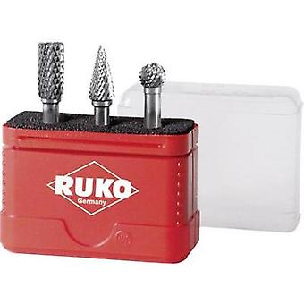 RUKO 116001 3-piece HM milling pin sets Shank diameter 6 mm