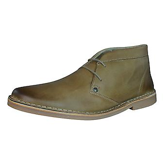 Base London Branch Mens Leather Desert Boots / Shoes - Taupe