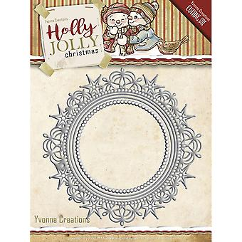 Find It Trading Yvonne Creations Holly Jolly Die-Nesting Frame YCD10067