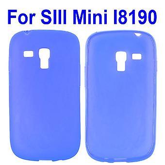 Genomskinligt lock, TPU, till Galaxy S3 mini (blå)