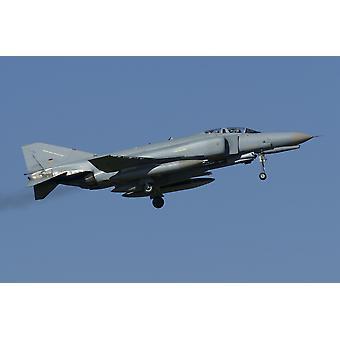 En tysk F-4F fantom i flight Florennes Belgien affisch Skriv