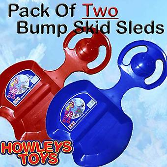 Set Of Two Bump Skid Sled / Sledges