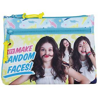 Safta Portatodo Grande 2 Cremalleras Soy Luna Faces (Toys , School Zone , Pencil Case)