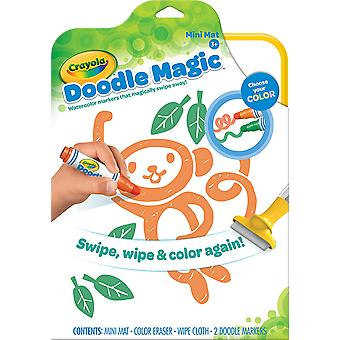 Crayola Doodle Magic Mini Mat - Contains Eraser, Wipe Cloth & 2 Doodle Markers