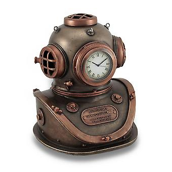 Bronze and Copper Finish Mark V Dive Helmet Desk Clock