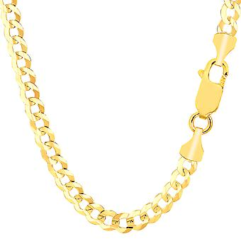 10 k geel gouden Comfort Curb Chain ketting, 5.7mm