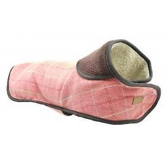 Doodlebone Tweed Jacket With Harness Hole Pink Extra Extra Large