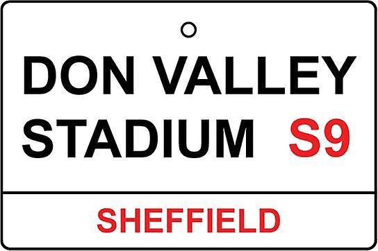 Rotherham / Don Valley Stadium Street Sign Car Air Freshener