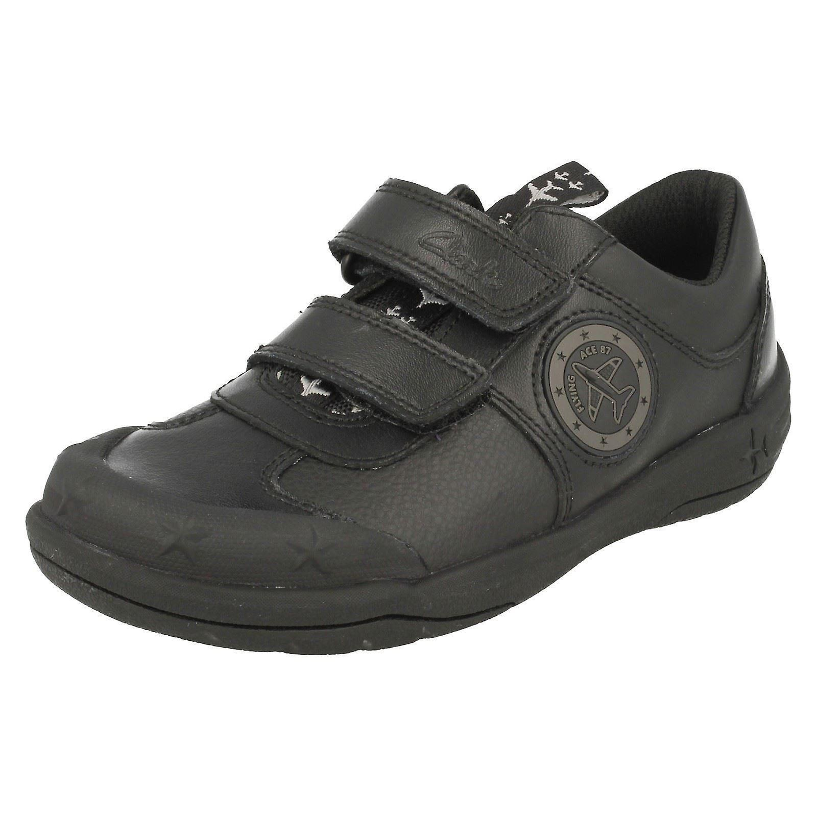Boys Clarks School Shoes with Lights Jetsky Fun