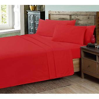 Ropa de cama de hojas de cama plana de calidad percal