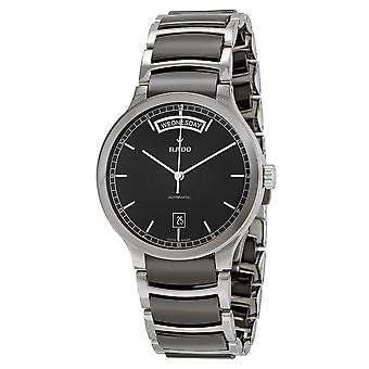 Rado Centrix Stainless Steel and Black Ceramic Automatic Mens Watch R30156152