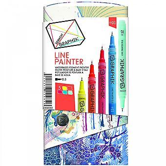 Derwent Graphik linea pittore-Set di 5 penne 01